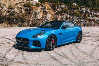 Blue Jaguar F-type SVR